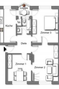 Wohnung vom Typ 4